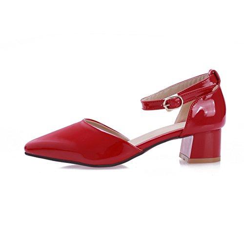 AdeeSu 36 Rouge 5 Compensées Sandales Femme Red rUqnvrTp