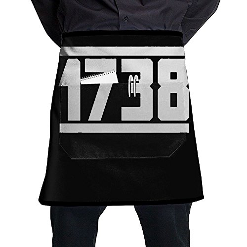 1738 Cognac - XiHuan Grill Aprons Kitchen Chef Bib 1738 Professional For BBQ Baking Cooking For Men Women Pockets
