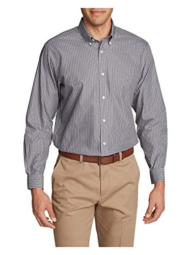 Oxford Relaxed Fit Oxford Shirt - Eddie Bauer Men's Wrinkle-Free Pinpoint Oxford Relaxed Fit Long-Sleeve Shirt - S