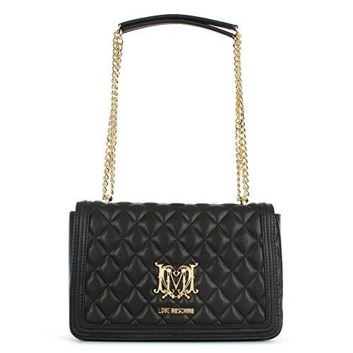 Love Moschino Borsa Nera Trapuntata Black Leather