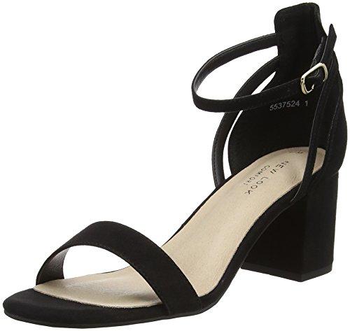 New Look Damen Values Peeptoe Pumps Black (Black 1)