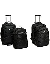 Hypath Travel 2-in-1 Convertible Wheeled Carry-On/Backpack with Detachable Daypack