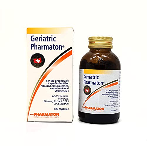Geriatric Pharmaton Ginseng Extract G115 (100 Capsules) +++ Swiss Quality + New Package + Same Formula +++ Clinical Proven For The Prophylaxis of Ages Infirmities and Retard Convalescence (Best Things Import Thailand)
