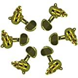 1set of 3L3R Acoustic Guitar Tuning Pegs Machine Head Tuners Gold Guitar Parts