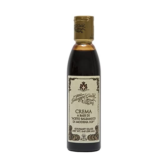 Giuseppe Giusti Italian Blasamic Vinegar Reduction of Modena IGP Reduction 8.45 fl oz (250ml) 1  ITALIAN MADE: Premium gourmet balsamic glaze that is imported and made in Italy.  INGREDIENTS: This all natural glaze is a reduction made from balsamic vinegar from Modena P.G.I., ensuring an authentic product  FLAVOR: Balsamic reductions create a rich, flavorful, syrupy-like glaze.