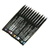 la colors eyeliner - Nabi Cosmetics Retractable Waterproof Eye Liner Pencil 12 Different Colors