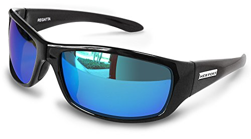 NEWPORT POLARIZED Sunglasses REGATTA Shiny Black / Polarized Blue - Newport Sunglasses