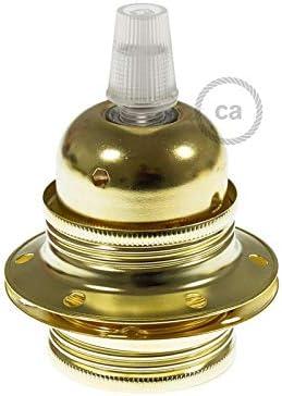 bronze for douille de lampe Anneaux et lampe /écrans ou /él/éments en verre CattleBie 4 Metal Pack Vis Bague E27 Remplacement douille