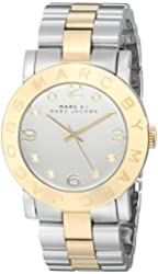 Marc by Marc Jacobs Silver Dial Stainless Steel Quartz Ladies Watch MBM3078