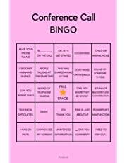 Conference Call Bingo: Lined Notebook | Funny Work From Home Meeting Journal For Coworkers Gifts (Meeting Notebook)