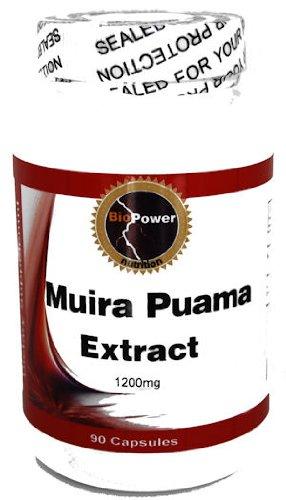 Muira Puama # 1200mg par la nutrition BioPower - Impuissance sexuelle et l'insuffisance - 90 Capsules