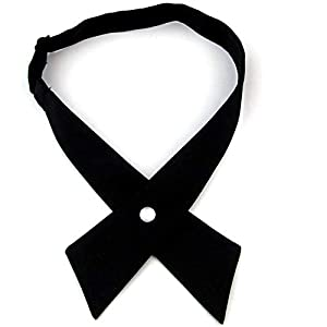 SYAYA Women Pre Tied crossover criss men criss cross bow tie for neck WLJ16