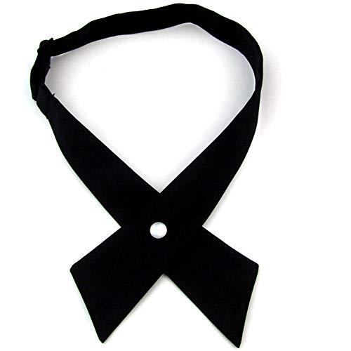 SYAYA Women Pre Tied Bowties womens tie Solid Color Adjustable Bow Ties WLJ16 WLJ16 (Black)
