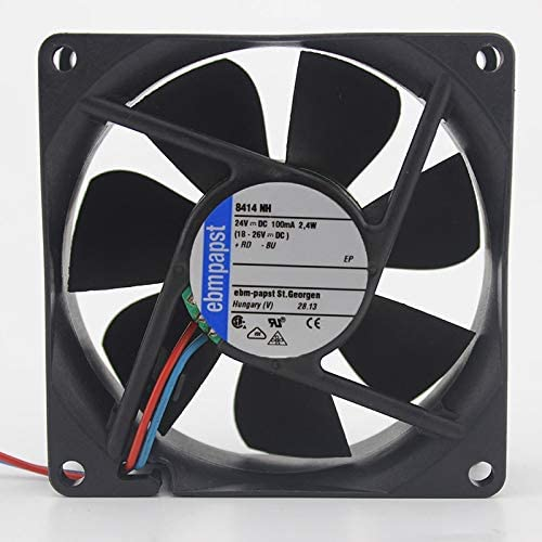 For PAPST 8414NH 8414 NH 80mm 8cm DC 24V 2.4W 2-wrie 80x80x25mm Server Square cooling fan fan