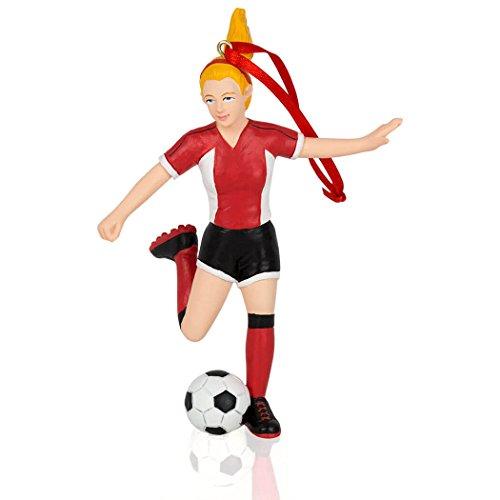 ChalkTalkSPORTS Soccer Christmas Ornament | Soccer Ornaments Girl | Blonde