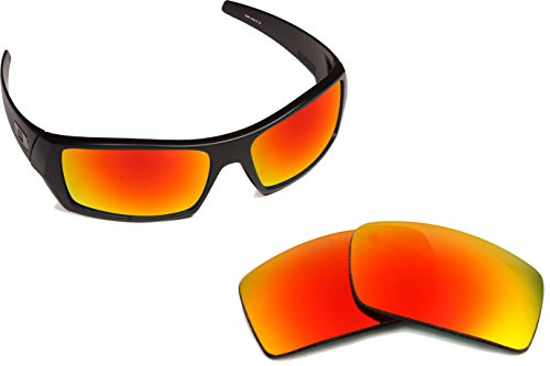 Best SEEK OPTICS Replacement Lenses Oakley GASCAN - Polarized Red Mirror by Seek Optics