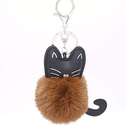 レディースキーホルダー・チャーム 車のハンドバッグぶら下げ無地猫髪ボールバッグペンダントかわいいフェイクぬいぐるみ 可愛い 飾り プレゼント