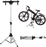 Portable Bike Repair Stand - Shop Home Bicycle Aluminum Alloy Foldable Mechanic Maintenance Rack - Height Adju