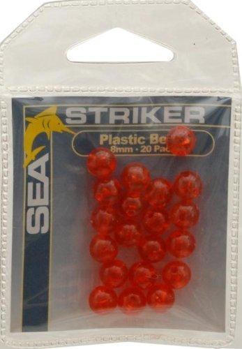 Sea Striker Round Plastic Beads 8MM Red 20 per Pack