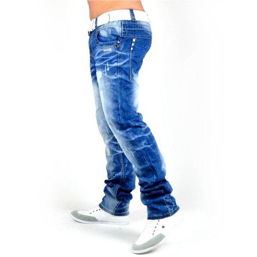Men's Jeans ACID ANGEL Like ID1284 Slim Fit knitter (Straight Leg)