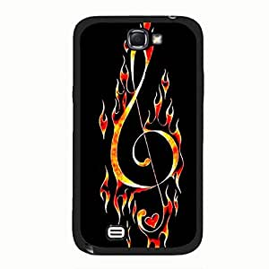 Creative Design Music Notes Phone Case Cover for Samsung Galaxy Note 2 N7100 Nice Style