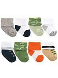Luvable Friends Assorted Socks 8 Pack is ideal for everyday wear with soft fabric that is comfortable on your baby's little feet. Our stretchable design makes for proper fit and no fuss dressing. Available in several different designs and sized from ...