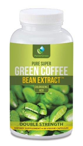 PowerGreen vert Coffee Bean Extract, 800 mg par gélule, 60 capsules végétariennes par bouteille (Contient Certains acides chlorogénique)