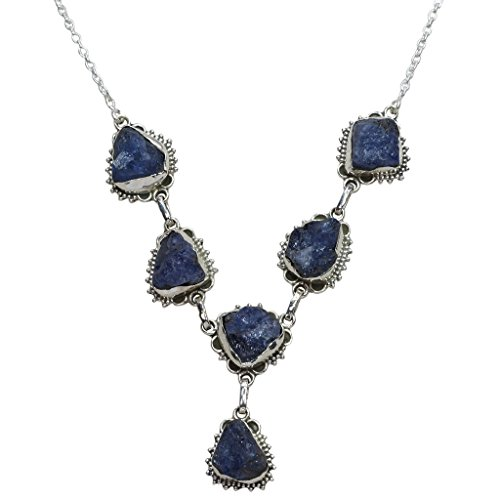 CZgem Tanzanite Necklace 925 Sterling Silver Necklace Y-Shaped Marquise Blue Gemstone Gift for Women Mum Girlfriend