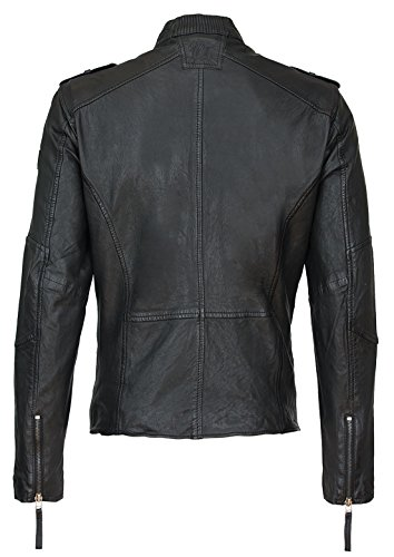 Gipsy Mauritius Herren Lederjacke Biker Jacke Echtleder Model Harper Schwarz