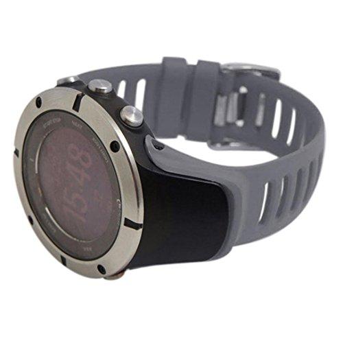 Elevin(TM) SUUNTO Ambit 3 Peak/Ambit 2/Ambit 1 Watch Band, Luxury Rubber Watch Replacement Band Strap (Grey)