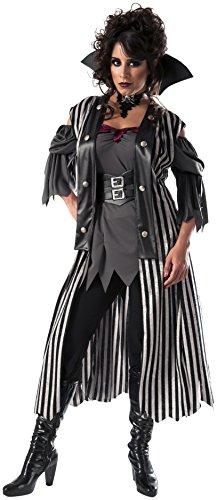 Gothic Maiden Womens Costumes (Rubie's Costume Co Women's Gothic Pirate Queen Costume, Multi, Standard)