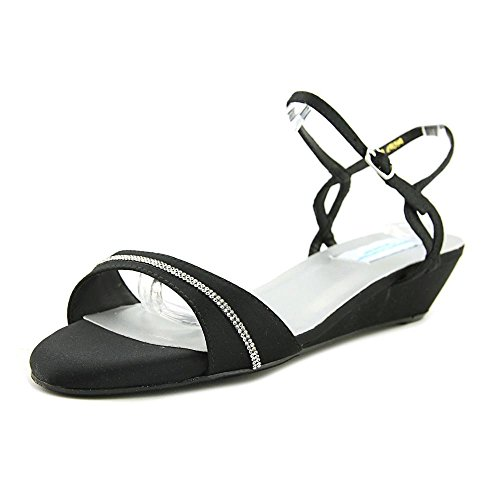 Dyeables Black Satin (Dyeables, Inc Womens Mallory Dress Sandal, Black Satin, 11 M US)