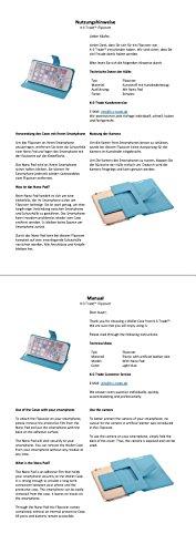 Caso de protección cubierta del tirón para Samsung Galaxy A8 (2018) Duos, azul claro | estilo del libro cartera cubierta delgada - K-S-Trade (TM)