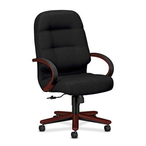 HON Pillow-Soft Executive High-Back Swivel Chairs-Exec High Back Chair,26-1/4x29-3/4x46-1/2, Black - Exec High Back Swivel Chair