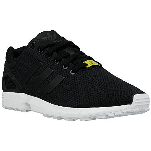 24298b8d5a24d ... low cost galleon adidas zx flux black white mens trainers size 10.5 uk  3dbe8 80c8e