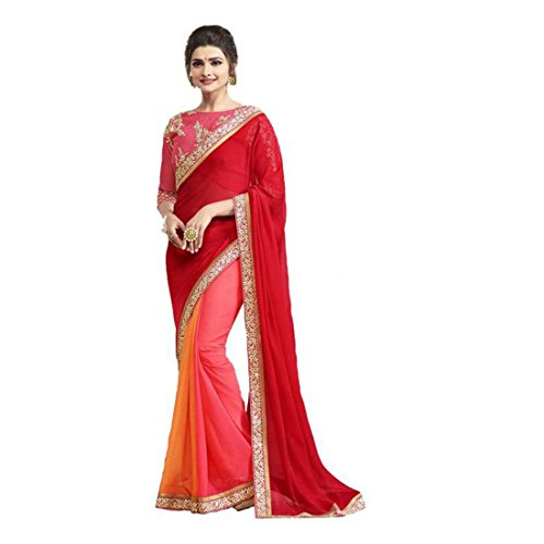 Georgette Striped Wear Daily Indian Saree Export Handicrfats qgRwRWaH