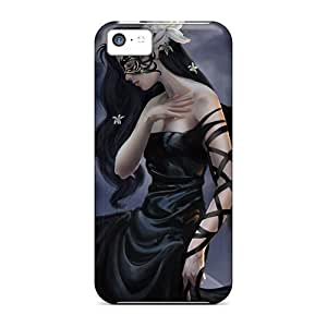 Premium Protection Beautiful Dark Lady Cases Covers For Iphone 5c- Retail Packaging