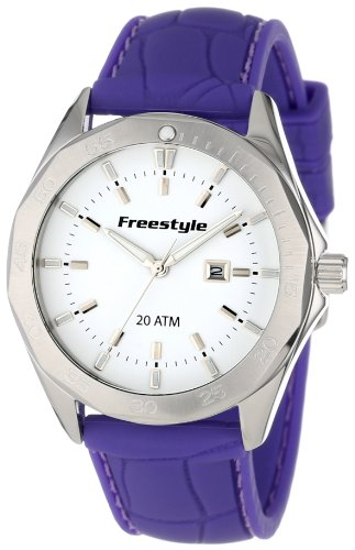 Freestyle Unisex 101802 Avalon Analog White Dial White Strap Round Watch (Polished Dial White)