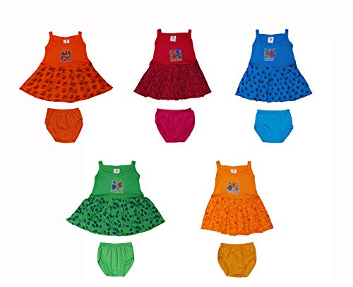 GREEN TEE Baby Girl Cotton Frocks Pack of 5