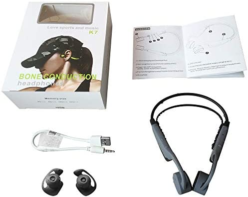 Aztine MP3 & Bluetooth 2 in 1 Bone Conduction Headphones for Swimming, IPX8 Level Underwater 3 Meters Waterproof, 8 Hours Play with 16GB Memory
