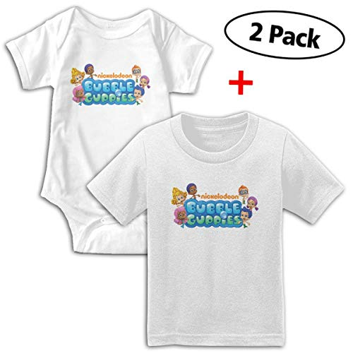 Bubble Guppies Babys Boy's & Girl's Short Sleeve Baby Climbing Clothes And -