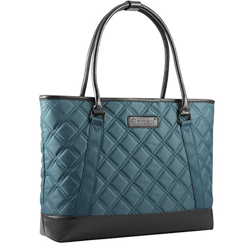 Women Laptop Tote Bag, Gonex Lightweight Nylon 15-15.6 Inches Tablet Handbag Shoulder Bag for Women,Computer,Business,Work,Travel Blue