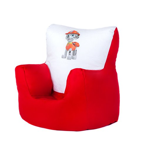 Paw Patrol Marshall Print Childrens Toddler Character Bean Bag Chair Seat With 100 Cotton Cover