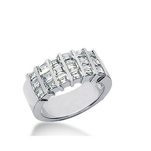 950 Platinum Diamond Anniversary Wedding Ring 18 Straight Baguette Diamonds 1.98ctw 379WR1565PLT - Size 8.75 (Straight Band Diamond Baguette)
