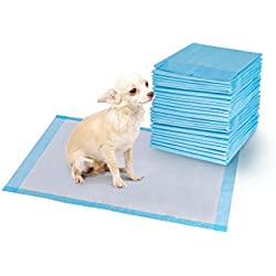 Giantex 200PCS 24'' X 24'' Pet Training and Puppy Pads Dog Cat Wee Pee Potty Piddle Training Pet Underpads
