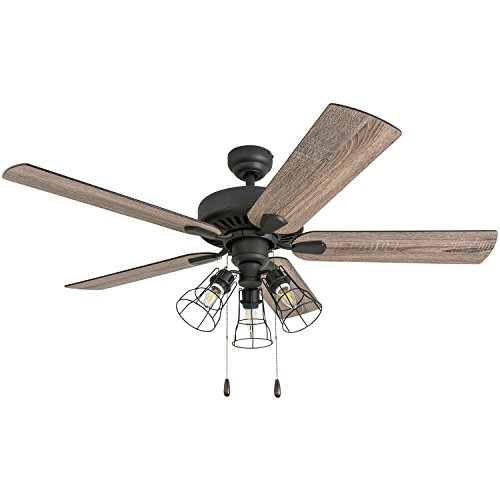 Prominence Home 50586-01 Inland Seas Farmhouse Ceiling Fan, 52