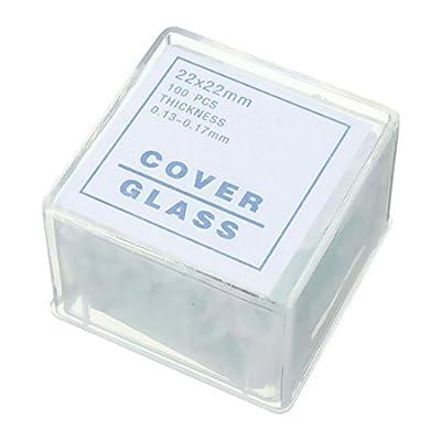 TOOGOO 100pcs Transparent Slides Coverslips Coverslides 22x22mm Microscope