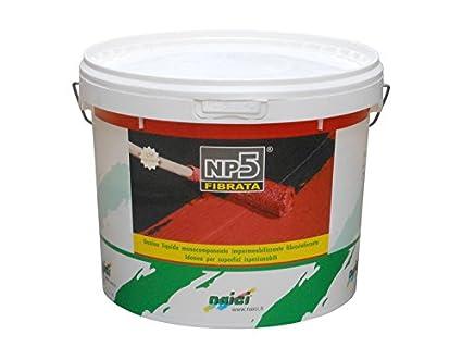 Naici Guaina Liquida per terrazzi 5 kg Rossa Impermeabilizzante NP5 ...