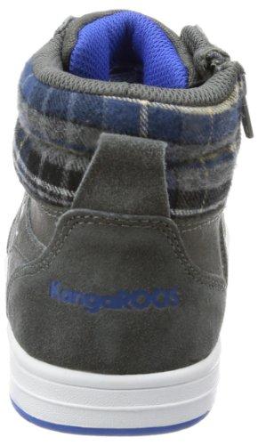 KangaROOS Gildo - Zapatilla alta de lona infantil gris - Grau (dark grey/royal blue)