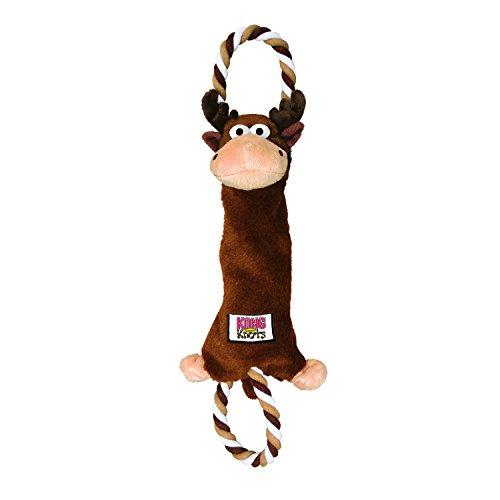 KONG Tugger Knots Moose Dog Toy, Medium/Large